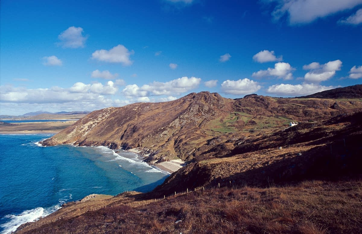 View over Tranarossan Bay, Rosguill Peninsula, Co Donegal, Ireland.