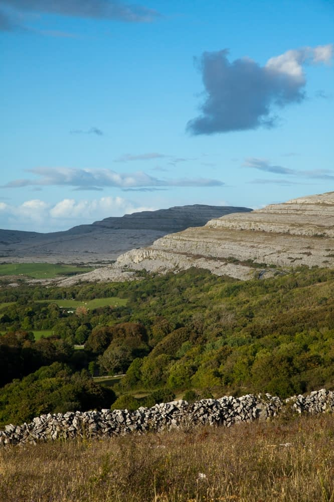 Limestone hills near Ailwee, The Burren, Co Clare, Ireland.
