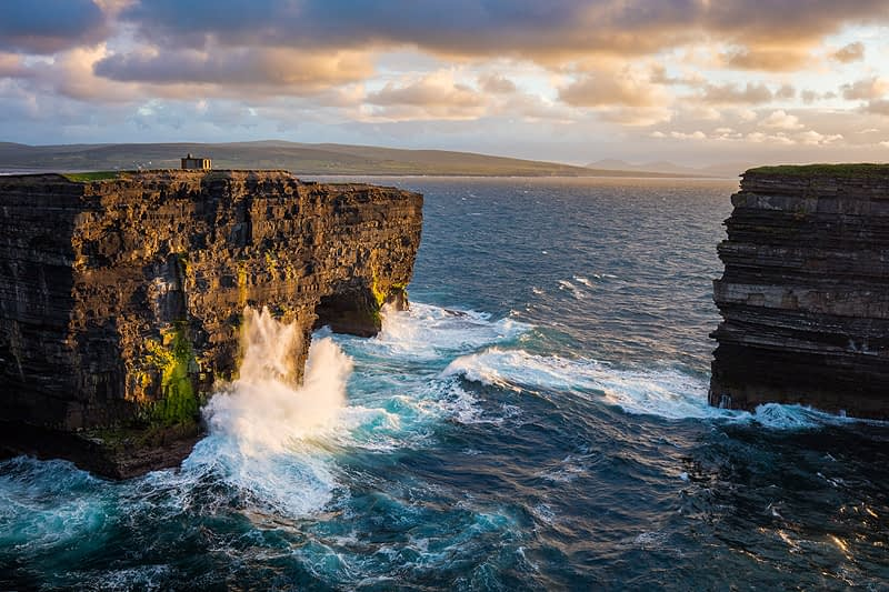 Visit Downpatrick Head on photography courses Sligo Ireland