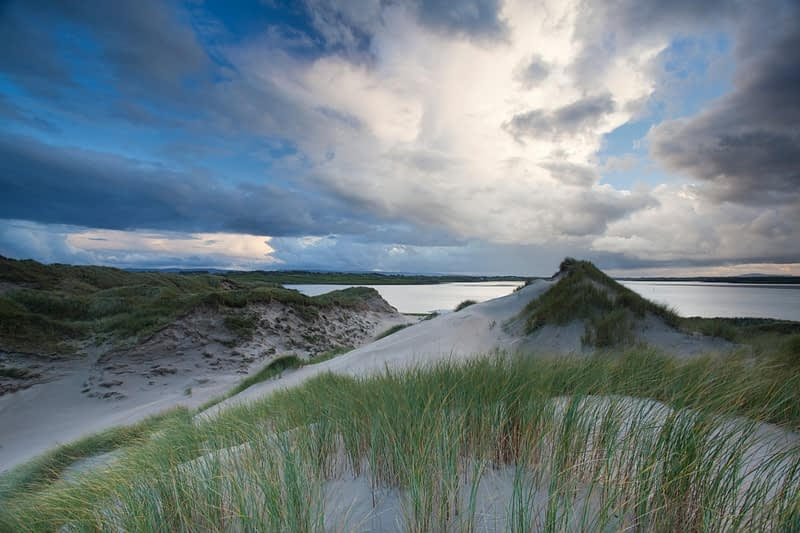 View over Enniscrone dunes, Co Sligo, Ireland.