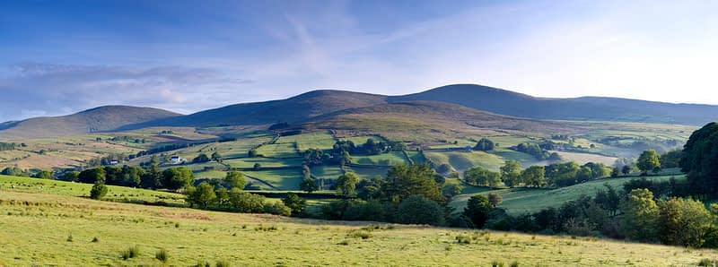 The Sperrin Mountains from Glenelly Valley, Co Tyrone, Northern Ireland.