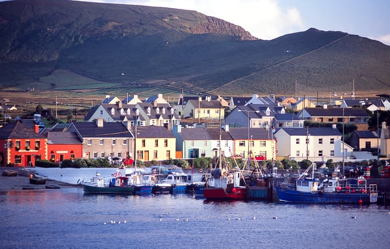 Portmagee harbour and village, Co Kerry, Ireland.