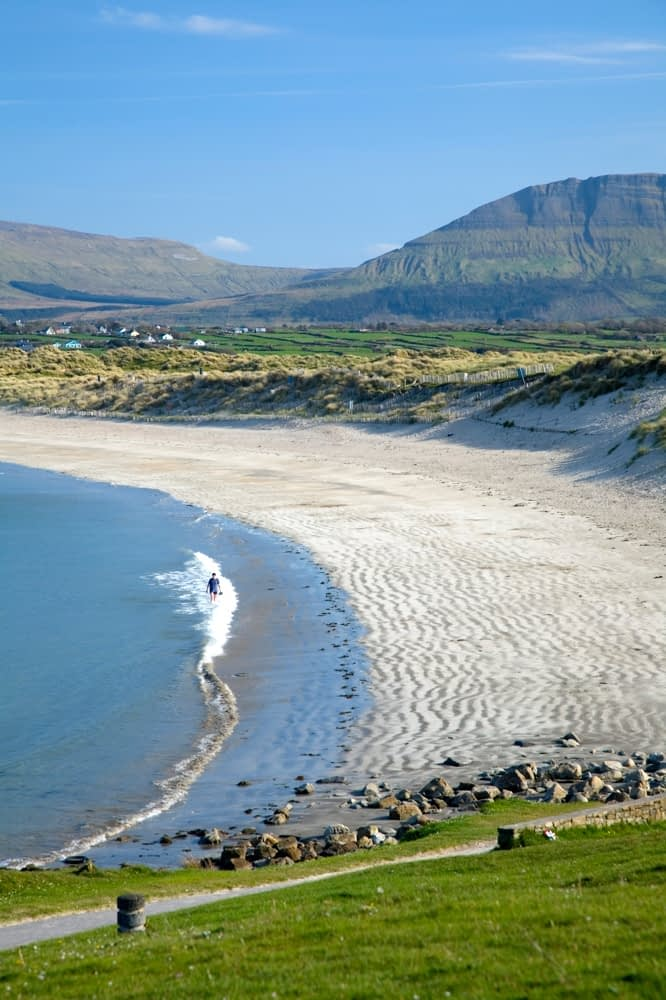 Bunduff Strand and Benwiskin, Mullaghmore, Co Sligo, Ireland.