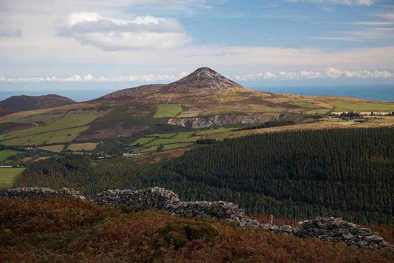 Great Sugarloaf from the slopes of Mauilin, Co Wicklow, Ireland.