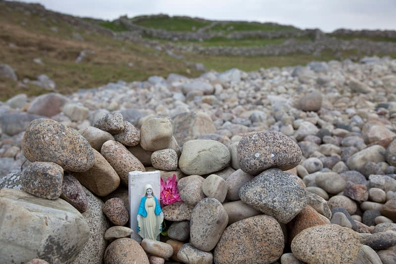 Small shrine by the sea shore at Bloody Foreland, County Donegal, Ireland.
