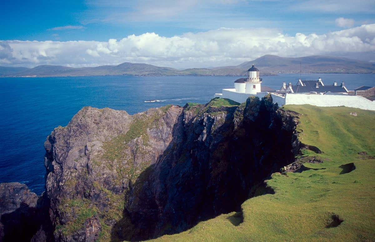 Clare Island Lighthouse, Co Mayo, Ireland.
