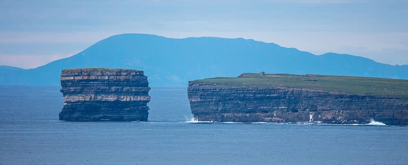 Dun Briste sea stack and Downpatrick Head. County Mayo, Ireland.