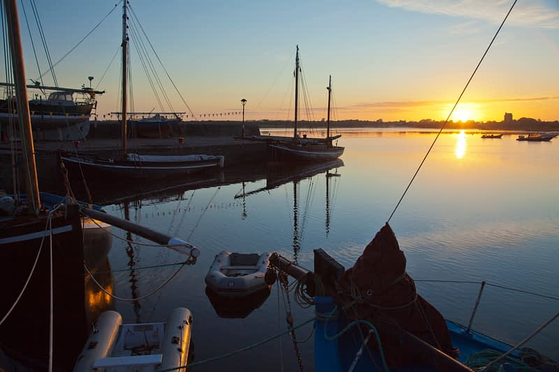 Sunrise at Kinvara harbour, Co Galway, Ireland.