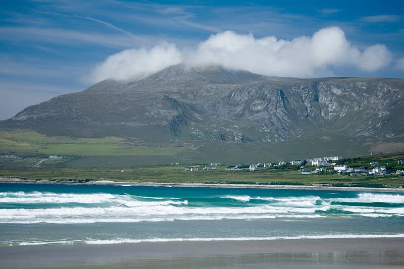 Trawmore and Croaghaun, Achill Island, Co Mayo, Ireland.