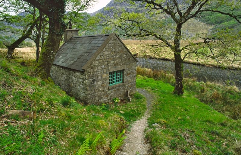 Stalker's cottage, Glenveagh National Park, Co Donegal, Ireland.