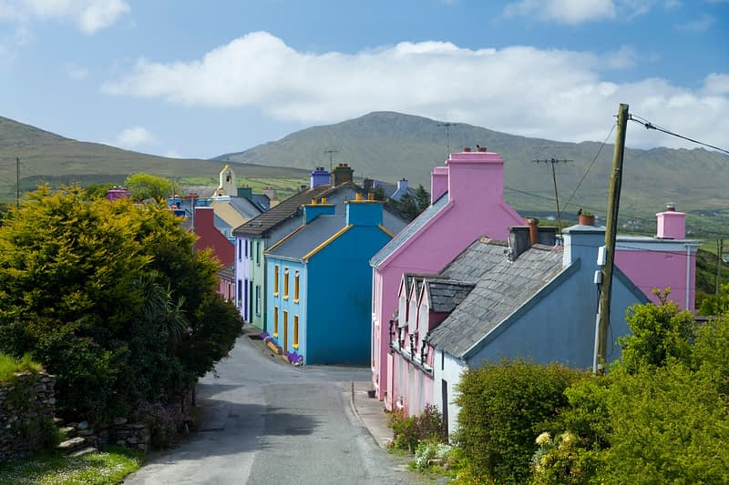 Eyeries village, Beara Peninsula, Co Cork, Ireland.