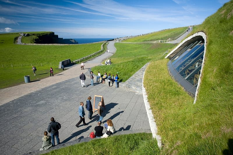 The Cliffs of Moher visitor centre, Co Clare, Ireland.