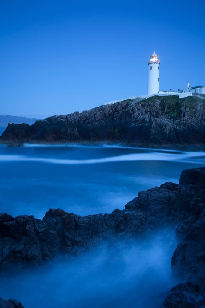 Dusk at Fanad Head lighthouse, Co Donegal, Ireland.