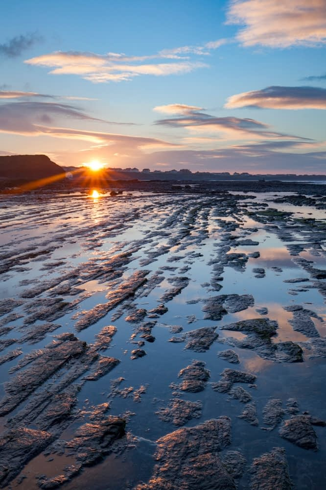 Coastal sunset, Bundoran, County Donegal, Ireland.