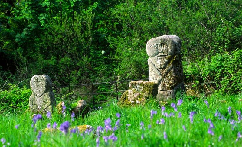 Janus figures, Caldragh Graveyard, Boa Island, Co Fermanagh, Northern Ireland.