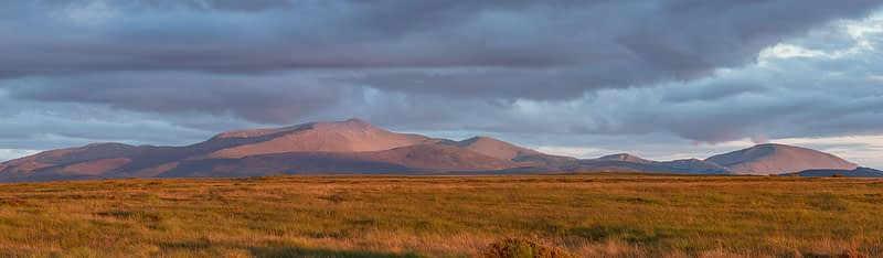 Open peatland beneth the Nephin Beg Mountains. Ballycroy National Park, County Mayo, Ireland.
