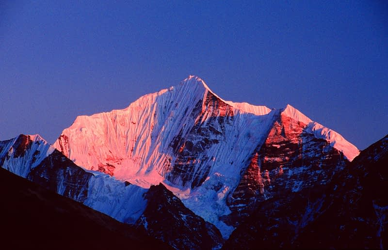 Dorje Lapka at sunset, Langtang Valley, Nepal.