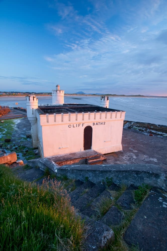 The old seaweed baths, Enniscrone, Co Sligo, Ireland.
