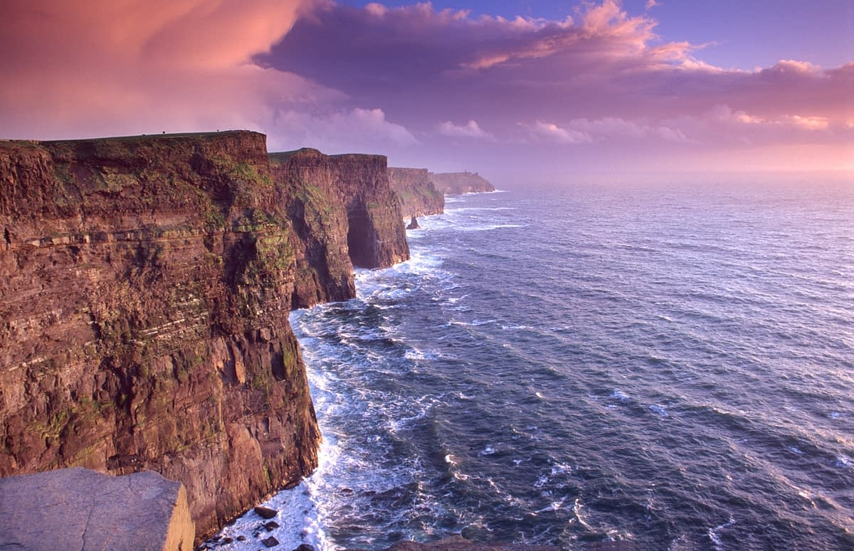 Evening at the Cliffs of Moher, Co Clare, Ireland.