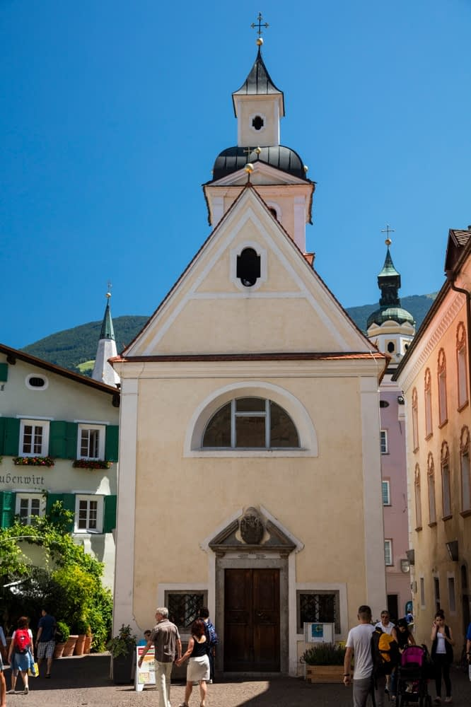 St Gotthard and St Erhard church, central Brixen, South Tyrol, Italy.