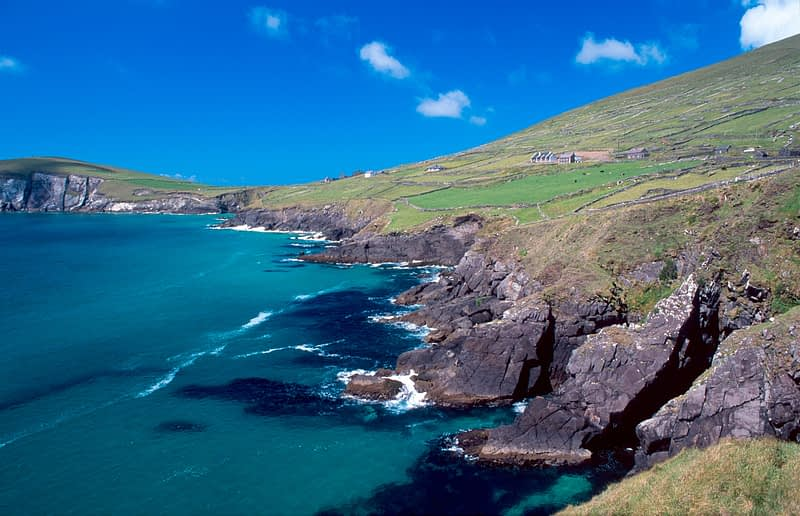 Coastal scenery around Coumeenoole Bay, Dingle Peninsula, Co Kerry, Ireland.