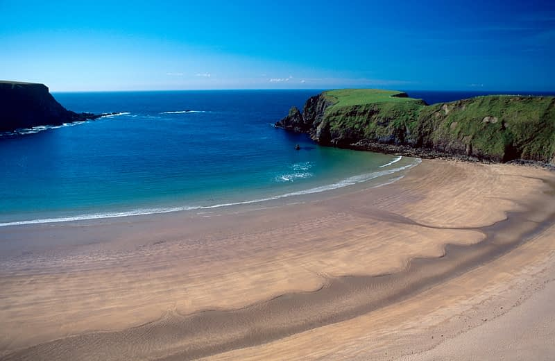 Traban or Sliver Strand, Malin Beg, Co Donegal, Ireland.