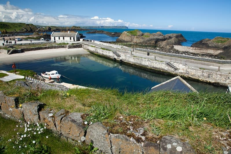 Ballintoy Harbour, Causeway Coast, County Antrim, Northern Ireland.