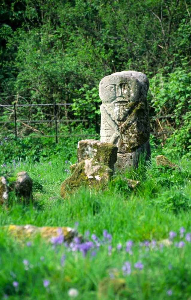 Janus figure, Caldragh Graveyard, Boa Island, Co Fermanagh, Northern Ireland.
