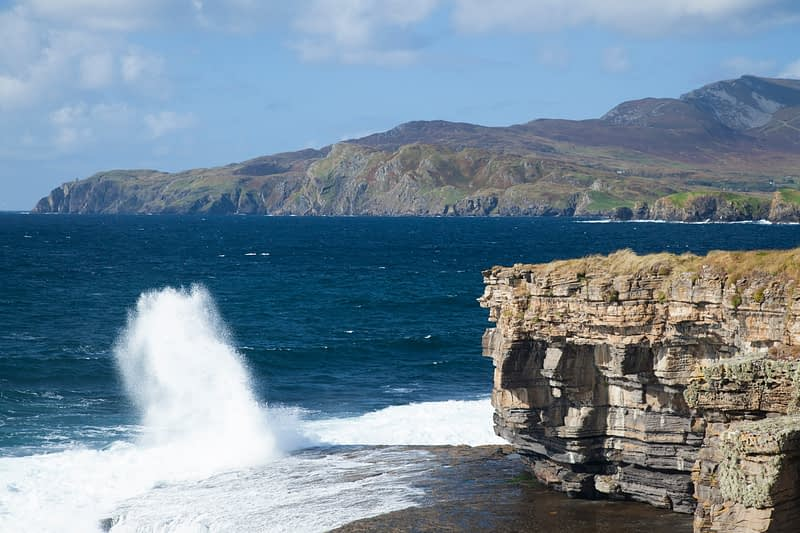 The cliffs of Muckross Head, County Donegal, Ireland.