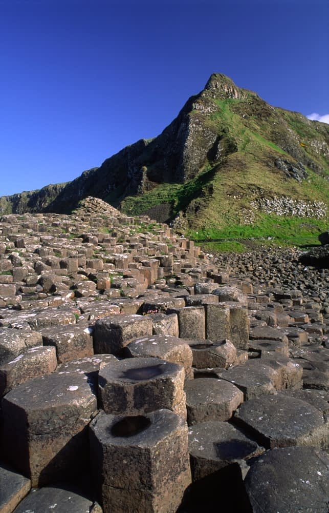 The basalt columns of the Giant's Causeway, Co Antrim, Northern Ireland.