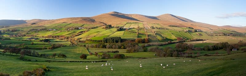 Sawel and Dart above Glenelly Valley, Sperrin Mountains, Co Tyrone, Northern Ireland.