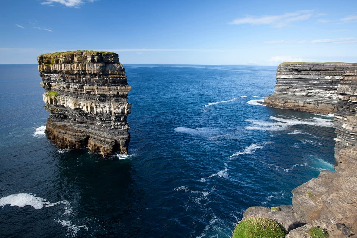 The seastack of Dun Briste, Downpatrick Head, Co Mayo, Ireland.