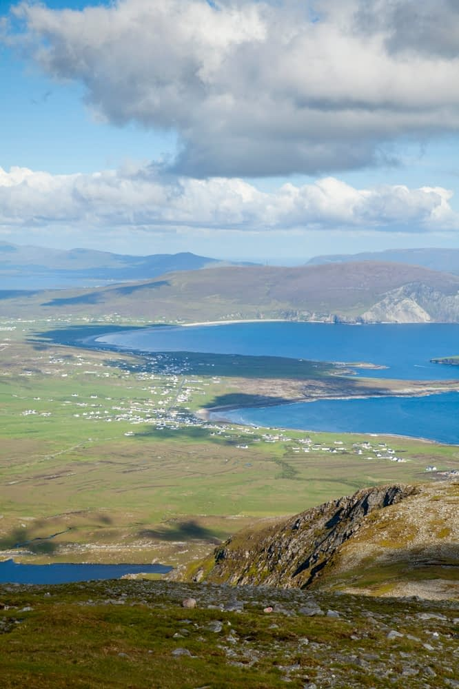 View over Achill Island from Croaghaun, Co Mayo, Ireland.