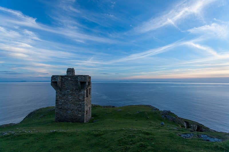 Lookout tower on Carrigan Head, County Donegal, Ireland.