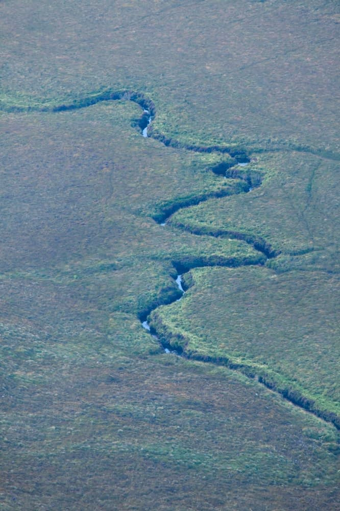 Meanders on the Cronaniv Burn, Poisoned Glen, Derryveagh Mountains, County Donegal, Ireland.