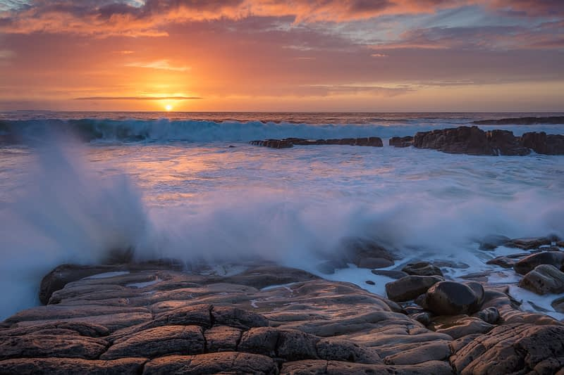 Coastal sunset from Mullaghmore Head, County Sligo, Ireland.