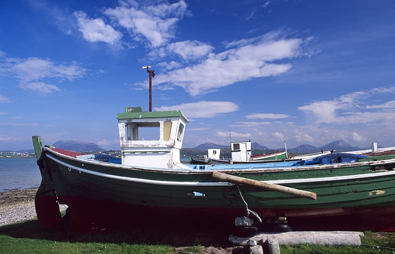 Fishing boats at Magheroarty, Co Donegal, Ireland.