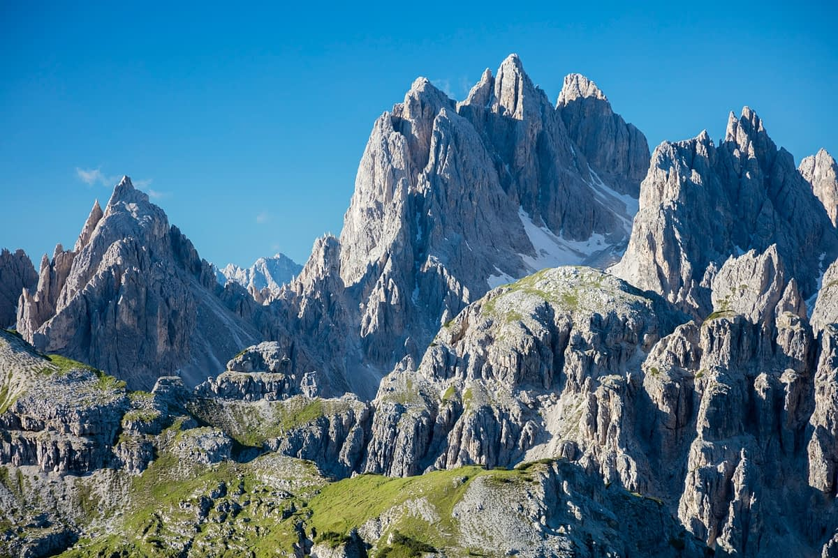 Cadini di Misurina mountains, Sexten Dolomites, South Tyrol, Italy.