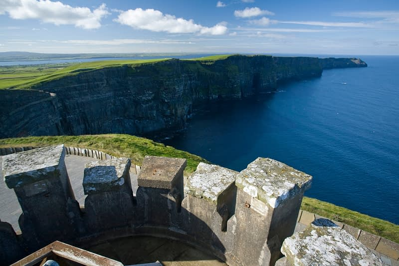 View of the Cliffs of Moher from O'Brien's Tower, Co Clare, Ireland.