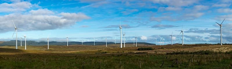 Dunmore Wind Farm, Formoyle, Limavady, County Derry, Northern Ireland.