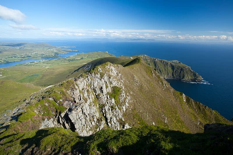View towards Bunglas from close to the summit of Slieve League, County Donegal, Ireland.