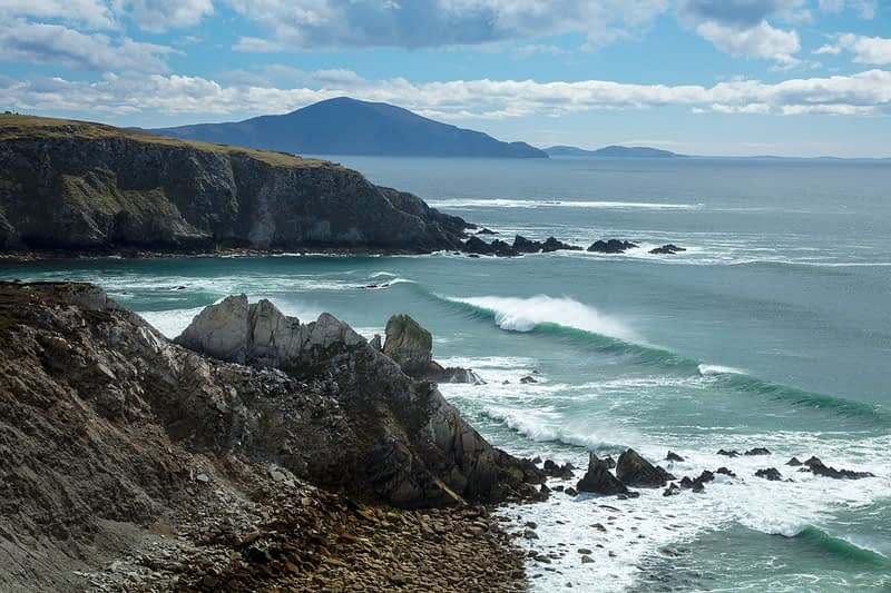 View across Ashleam Bay, Achill Island, County Mayo, Ireland.