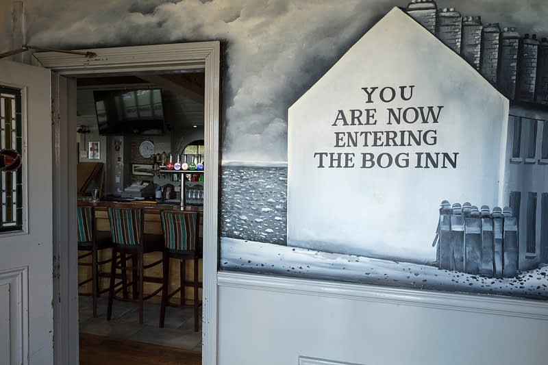 Mural inside the Bogside Inn, Derry city, County Derry, Northern Ireland.