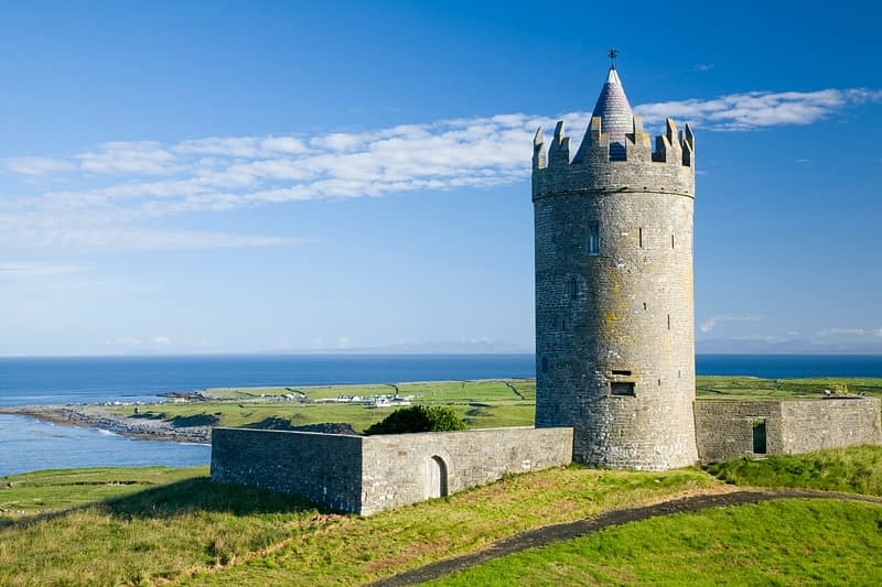 16th-century Doonagore Castle, Doolin, Co Clare, Ireland.