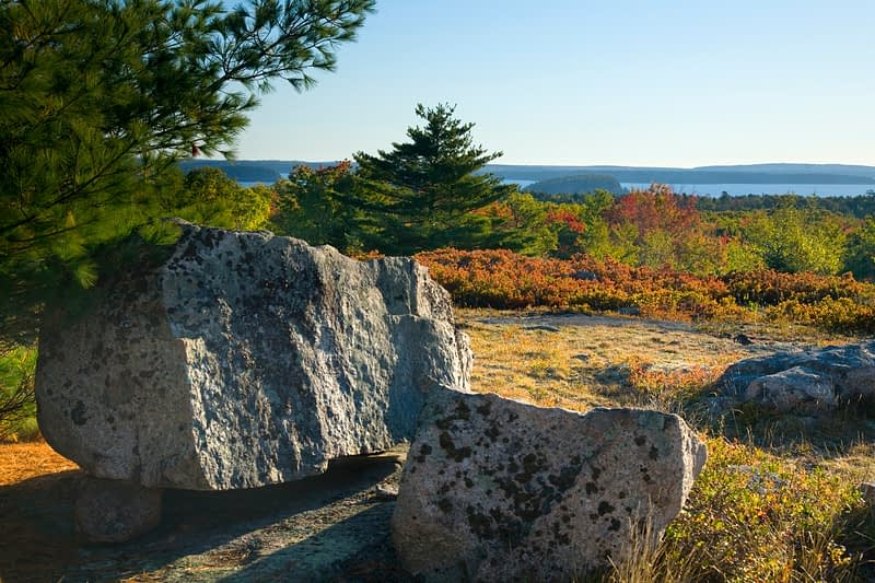 Champlain Mountain, Acadia National Park, Maine, New England, USA.