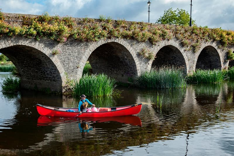 Caneoist beneath the bridge at Goresbridge, River Barrow, County Waterford, Ireland.
