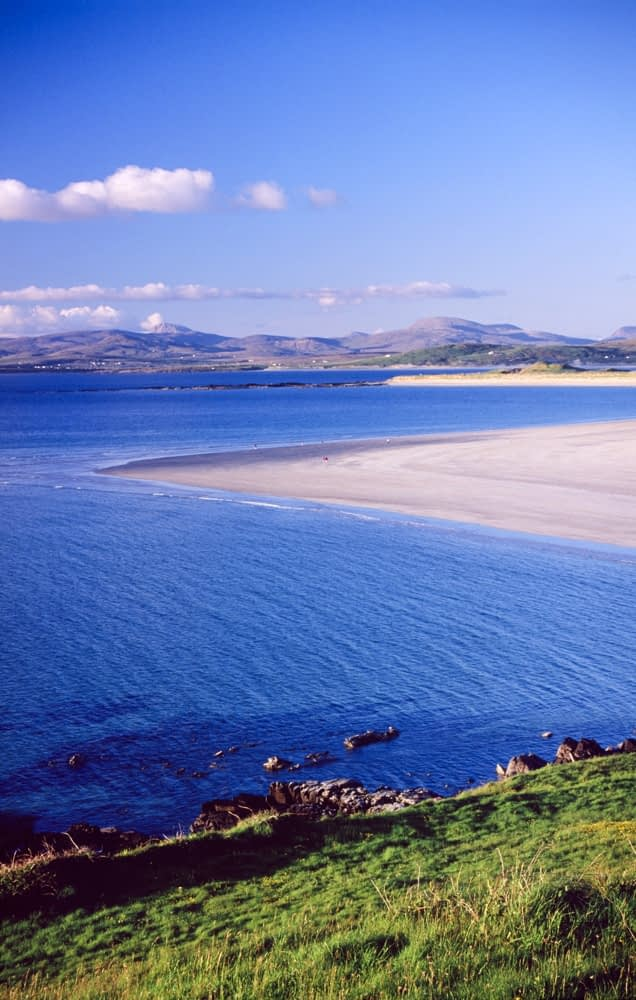 View across Tramore Strand, Portnoo, Co Donegal, Ireland.