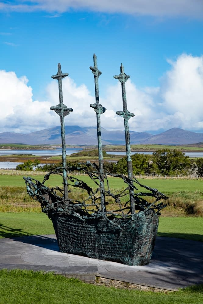 The National Famine Memorial at Murrisk, County Mayo, Ireland.