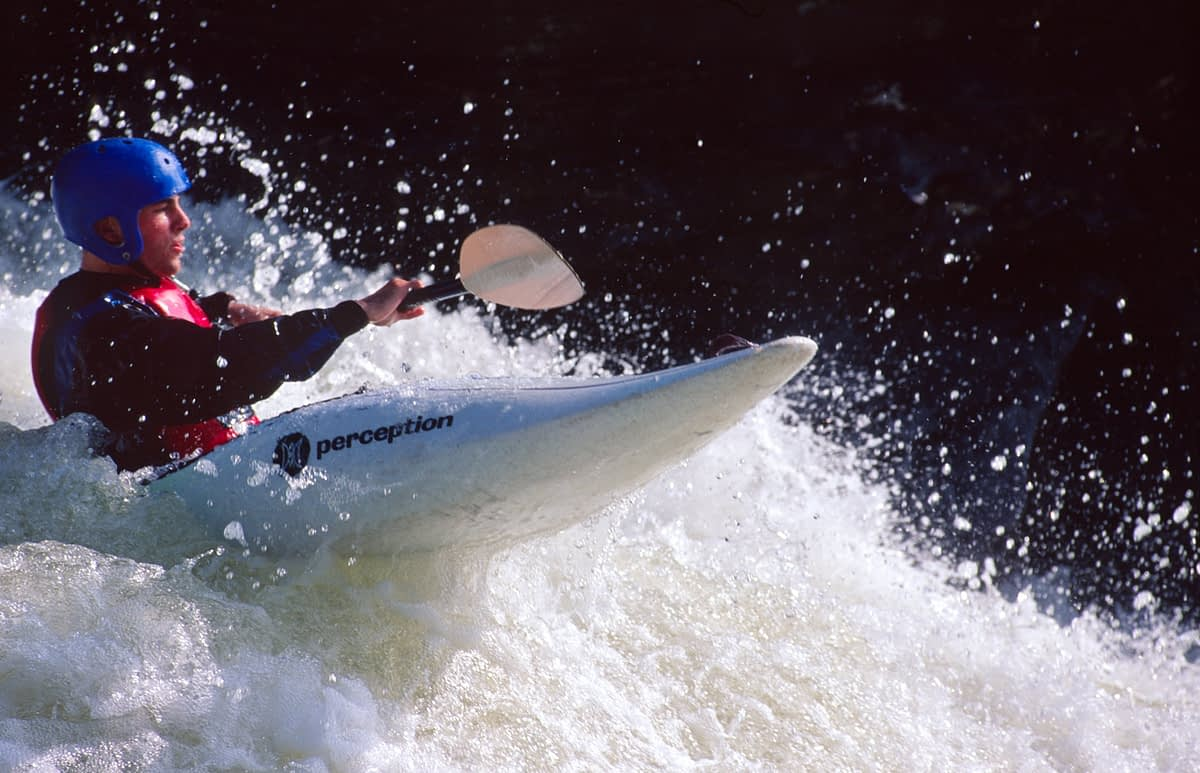 Kayaking on the Gauley River, West Virginia, USA.