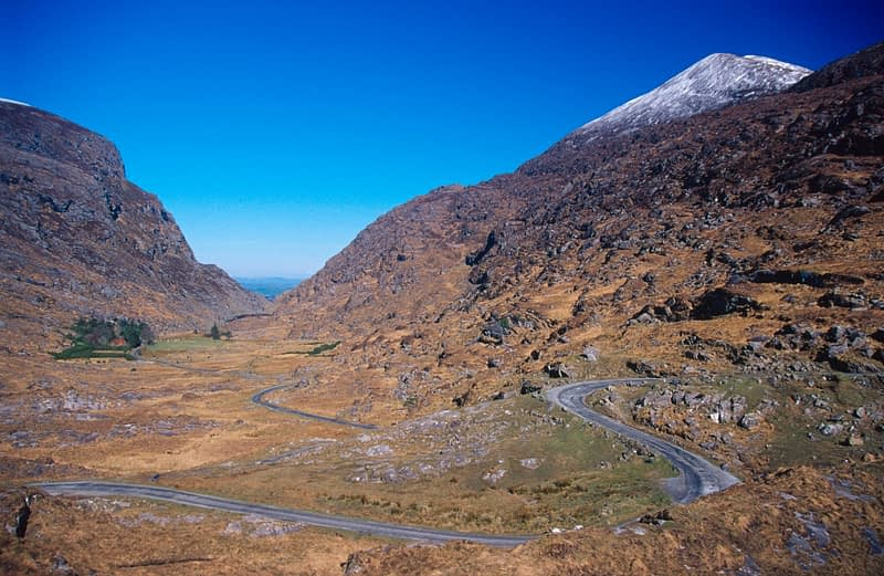 The Gap of Dunlow in winter, Iveragh Peninsula, Co Kerry, Ireland.